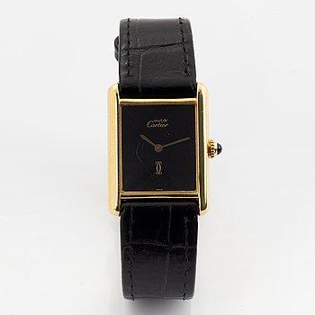 must de CARTIER, Tank, wristwatch, 23,5 x 23 (31) mm.