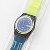 Swatch, blue neptun, wristwatch, 34 mm.