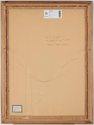 "Ernst josephson, ""rembrandt och saskia"" (rembrandt and saskia)."