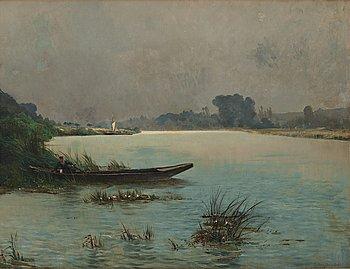 Gustaf Adelswärd, oil on canvas, signed Gustave Adelsvärd.
