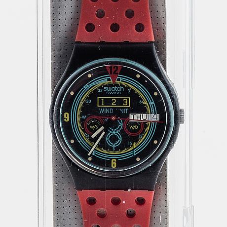 Swatch, navigator, wristwatch, 34 mm.