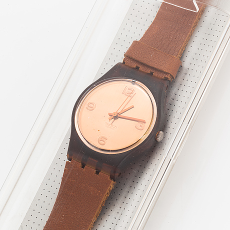 Swatch, true west, wristwatch, 25 mm.