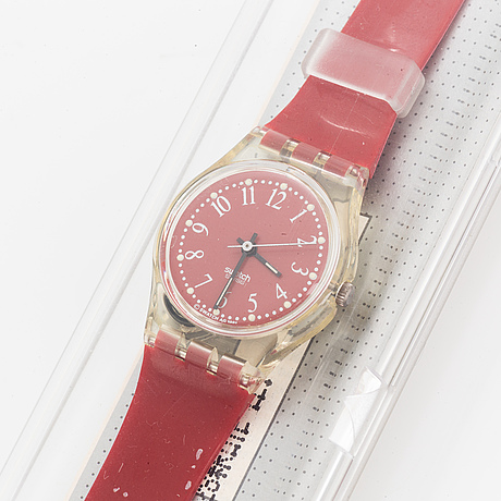 Swatch, rote-lei, armbandsur, 25 mm.