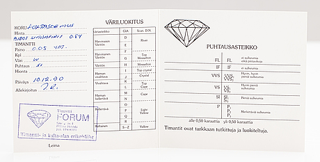 A 14k gold ring with diamonds ca. 0.05 ct and sapphires. finnish import marks 1990.