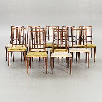"""Svante Skogh, chairs, 12 pcs, """"Cortina"""", 1950s / 60s."""