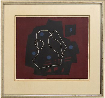 Esaias Thorén, lithograph in colours, signed and numbered 13/75, dated -64.