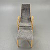 """Yngve ekström, armchair, """"lamino"""", swedese, with footstool of another brand."""