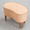 Axel larsson, attributed to. an elm dressing table and stool, swedish modern, bodafors smf, 1940's.