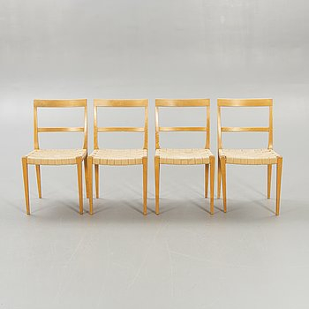 "Bruno Mathsson, chairs, 4 pcs, ""Mimat"", mid-20th century."