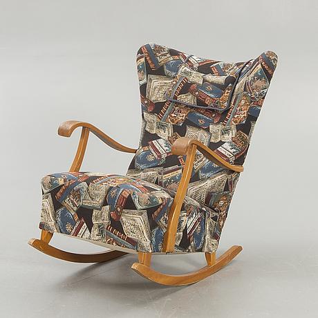 Rocking chair / armchair, sweden, 1950s.