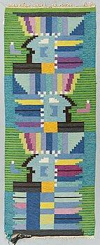 Ingegerd Silow, a carpet, flat weave, ca 174 x 66,5-68,5 cm, signed IS.