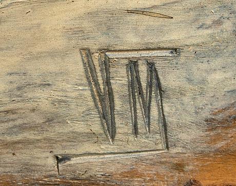 Relief, trä, signerad vm, 1900-talets första hälft.