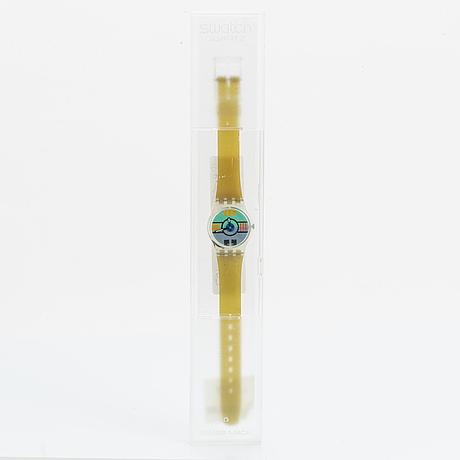 Swatch, flamingo deli, wristwatch, 25 mm.