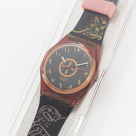 Swatch, bar oriental, wristwatch, 34 mm.