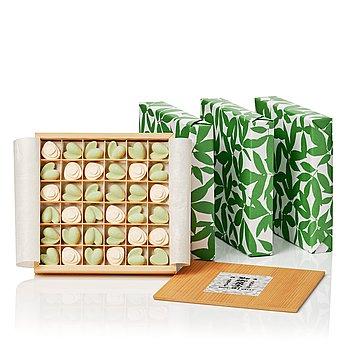 "Claesson Koivisto Rune, ""Monet"", four boxes of Japanese teabisquits, Sfera, Japan, 2008."