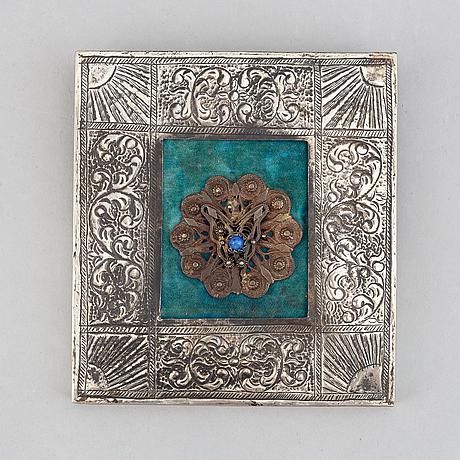 Ikon, tempera och guld på pannå, grekland, 1800/1900.