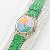 Swatch, piastrella, wristwatch, 34 mm.