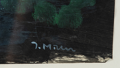 Ingegerd möller,  mixed media and collage on paper. signed.
