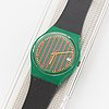 Swatch, club stripe, armbandsur, 34 mm.