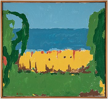 Max Bilde, oil on canvas, signed and dated -76.