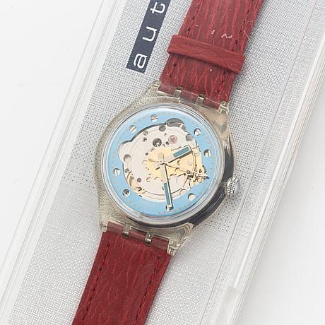 Swatch, automatic, rubin, armbandsur, 36 mm.