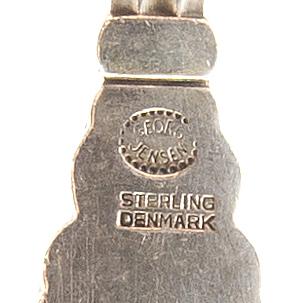 """Johan rohde, a set of 79 pcs of """"konge/acorn"""" sterling silver flatware, maker's mark georg jensen, copenhagen post 1945."""