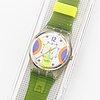 Swatch, stream, wristwatch, 34 mm.