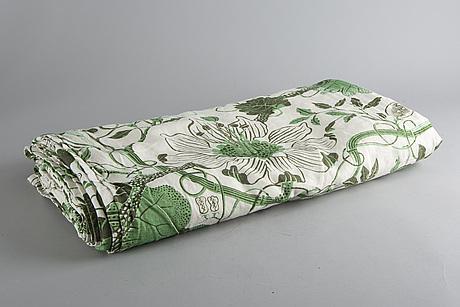 """Josef frank, textil/överkast, svenskt tenn, """"la plata""""."""