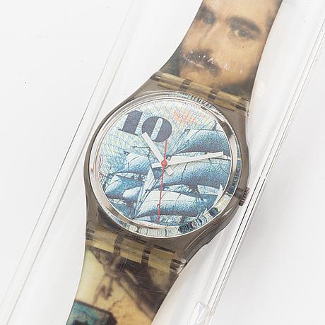 Swatch, mark, wristwatch, 34 mm.