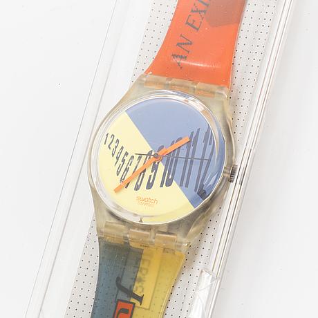 Swatch, typesetter, wristwatch, 34 mm.