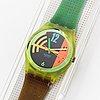 Swatch, hang twelve, wristwatch, 34 mm.