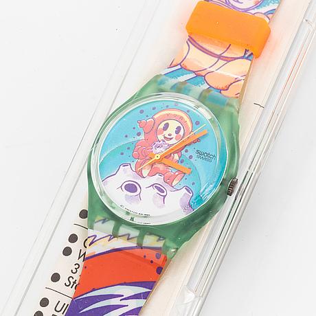 Swatch, yuri, wristwatch, 34 mm.
