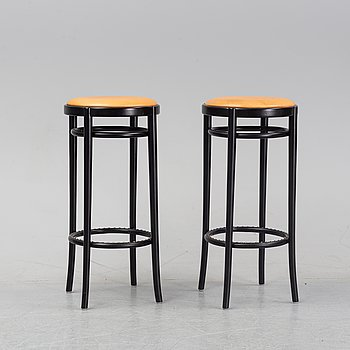 Jonas Bohlin, a pair of bar stools, model *Piruett', Gemla Fabrikers AB, 2013.
