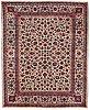 A carpet, semi-antique mashad ca 369,5 x 300 cm.