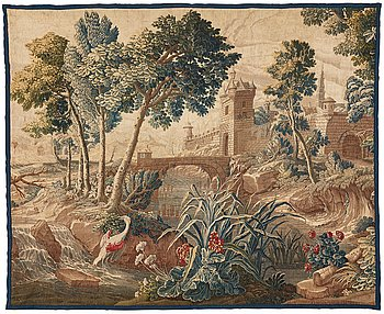 """268. A tapestry, """"Verdure"""", tapestry weave, ca 236,5-238,5 x 290-294,5 cm, Manufacture Royale d'Aubusson,"""