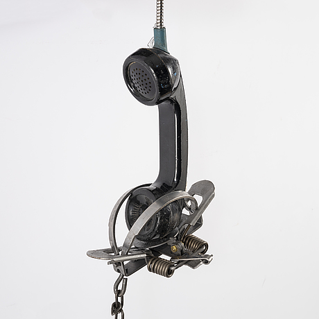 Jason matthew lee, hardrive magnets, animal trap, on cut and welded payphones. executed in 2017.