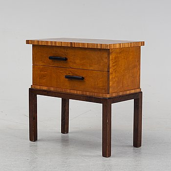 An Art Deco side table, 1930s.