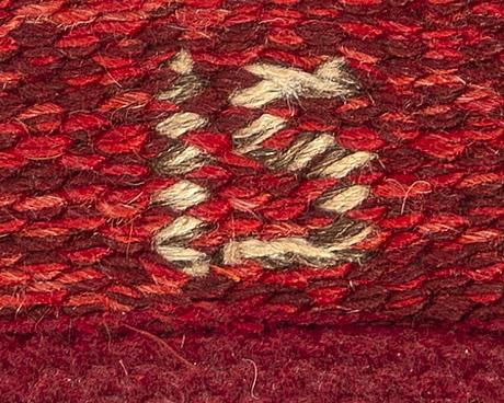 Ingegerd silow, carpet, carpet, approx. 200 x 128 cm, signed is.