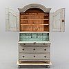 A painted writing cabinet. first half of the 19th century.