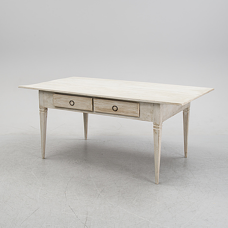A painted table, 19th century.