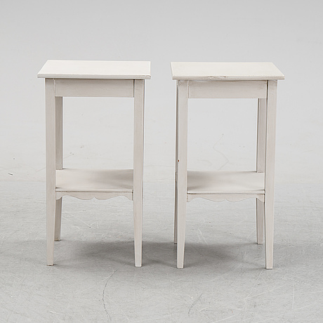 A pair of side tables, 20th century.