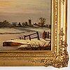 Charles branwhite, oil on panel, signed.