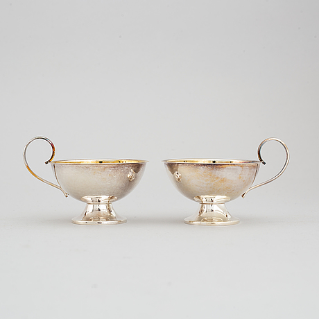 Swedish silver vodka cups and punsch cups, (6+6+6+1 pieces).