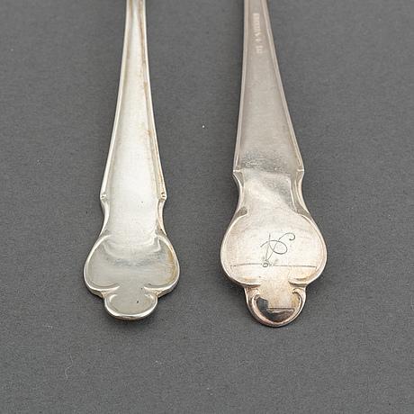 A swedish silver cutlery, 'disa', mgab, uppsala 1951, (36 pieces).