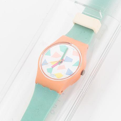 Swatch, blue lolly, wristwatch, 25 mm.
