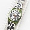 Swatch, flaeck, felice varini, armbandsur, 34 mm.