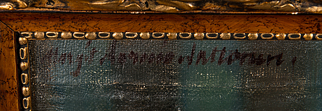 Margit aarnio-aaltonen, olja på duk, signerad.