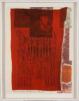Robert Rauschenberg, silkscreen and collage, 1979, signed 6/100.
