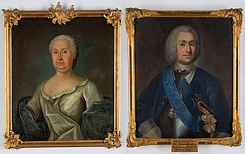 Johan Henrik Scheffel, a pair, one period and one copy after, (20th Century) oil on canvas.