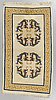 A rug, probably tibetan, ca 160 x 93 cm (as well as 2-2,5 cm flat weave at the ends).